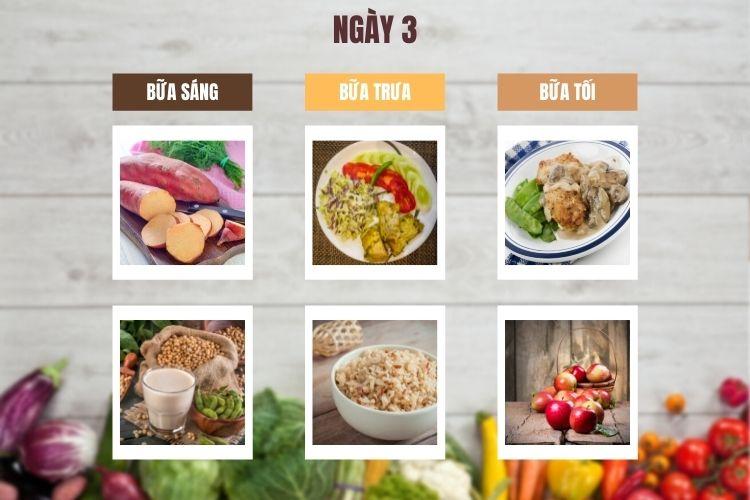 Thực đơn ăn kiêng 1.200 calo 14 ngày ngày 3