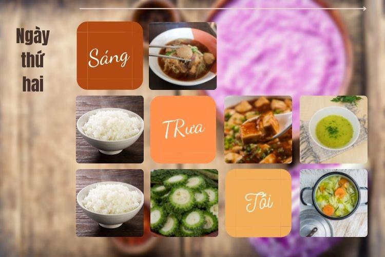 Thực đơn ăn kiêng Vegan diet ngày 2