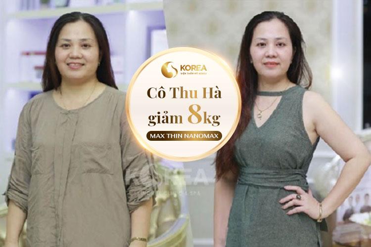 Chị Thu Hà cũng cảm thấy rất hài lòng với kết quả Max Thin Oneday mang lại