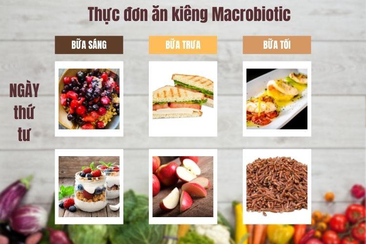 Thực đơn ăn kiêng Macrobiotic ngày 4