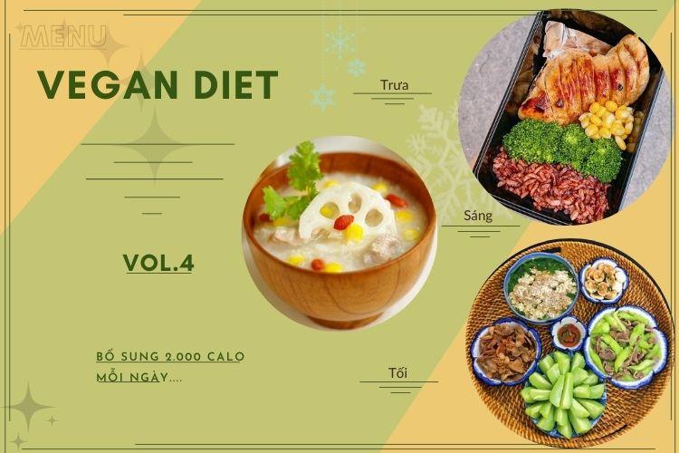 Thực đơn ăn kiêng Vegan diet (ăn thuần chay) ngày 4
