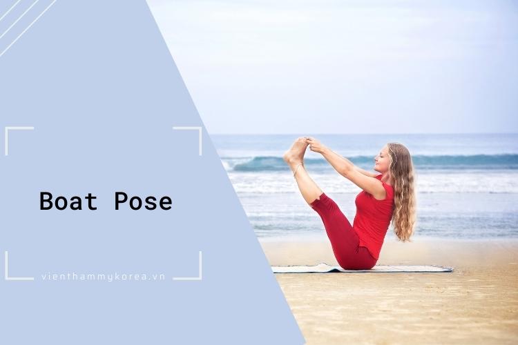 Các bài tập thể dục giảm mỡ bụng hiệu quả: Boat Pose