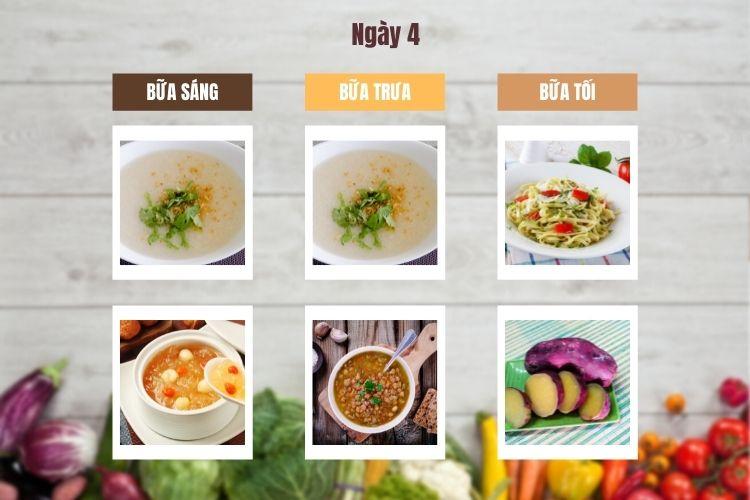 Thực đơn chế độ ăn kiêng chay ngày 4