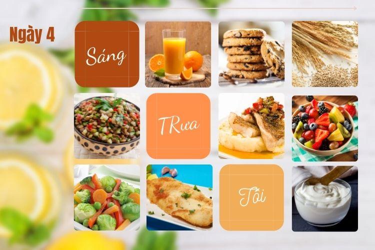 Thực đơn ăn kiêng để giảm 5kg trong 1 tháng ngày 5