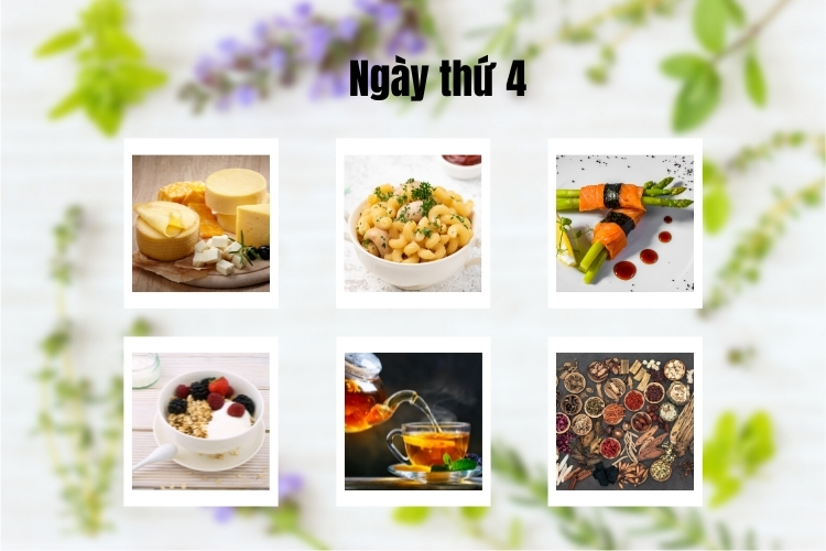 ăn kiêng theo chế độ phân ly ngày 4