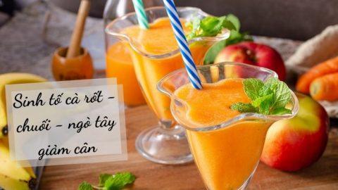 Sinh tố cà rốt với chanh và ngò tây