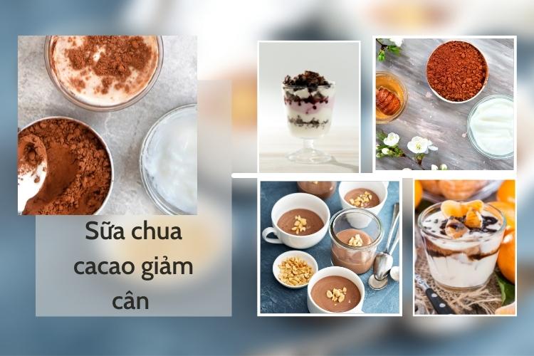 Sữa chua cacao là món ăn giảm cân ưa thích của nhiều chị em