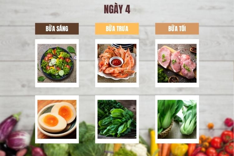 Thực đơn ăn kiêng low carb 7 ngày ngày 4