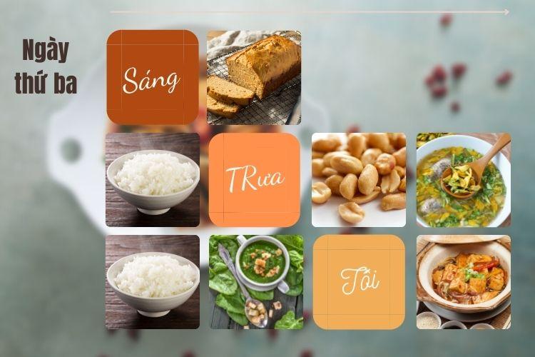 Thực đơn ăn kiêng Vegan diet ngày 3