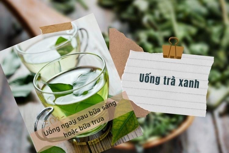 Trà xanh chứa chất chống oxy hóa giúp đốt cháy chất béo và tăng cường trao đổi chất, nó chứa ít calo hơn.