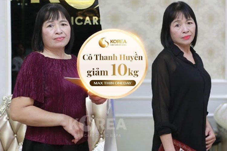 Đánh giá của cô Thanh Huyền sau khi giảm béo bằng Max Thin Oneday
