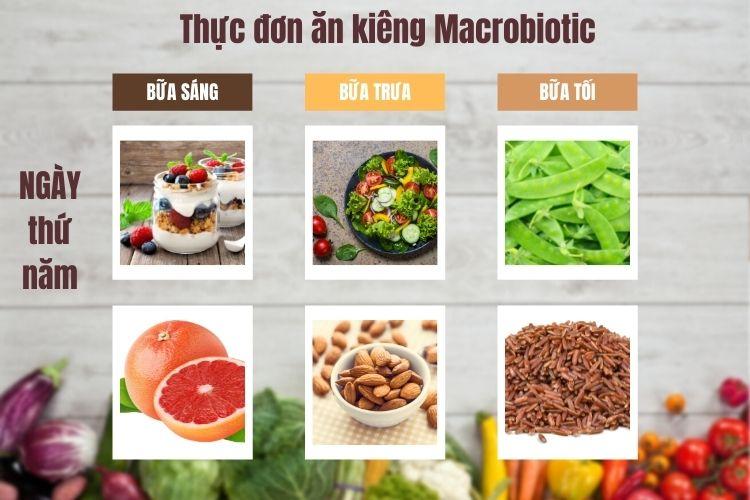 Thực đơn ăn kiêng Macrobiotic ngày 5