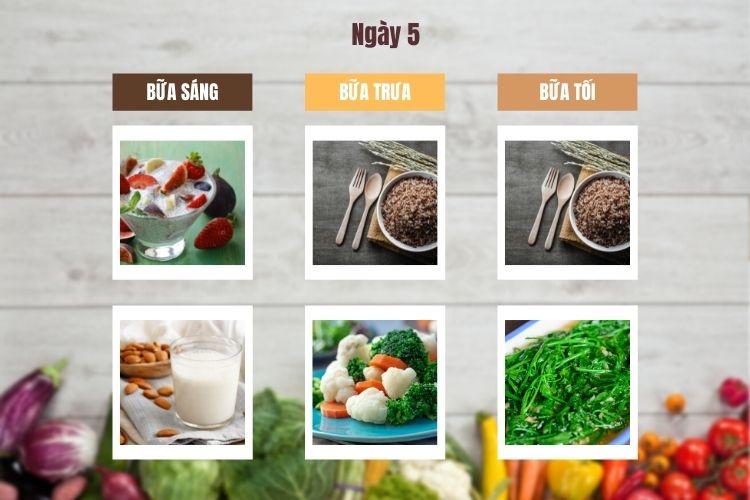 Thực đơn chế độ ăn kiêng chay ngày 5