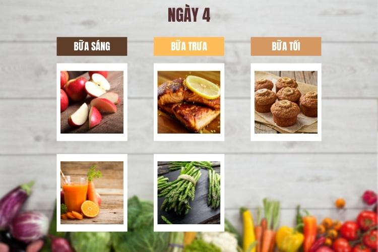 Thực đơn lowcarb giảm cân trong 14 ngày ngày 4