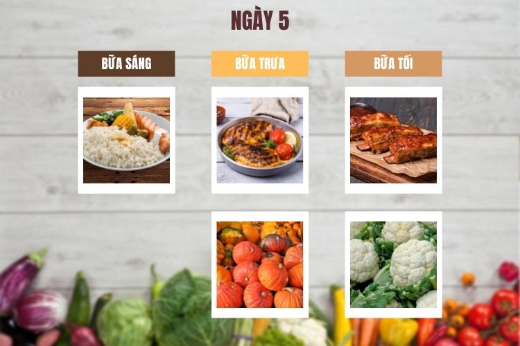 Thực đơn ăn kiêng low carb 7 ngày ngày 5