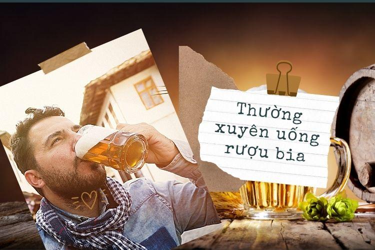 Mặc dù ăn kiêng nhưng bạn lại thường xuyên uống rượu bia