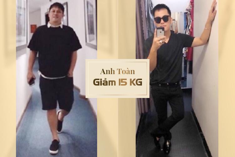 Anh Toàn trước và sau khi giảm béo bằng công nghệ Max Thin Oneday