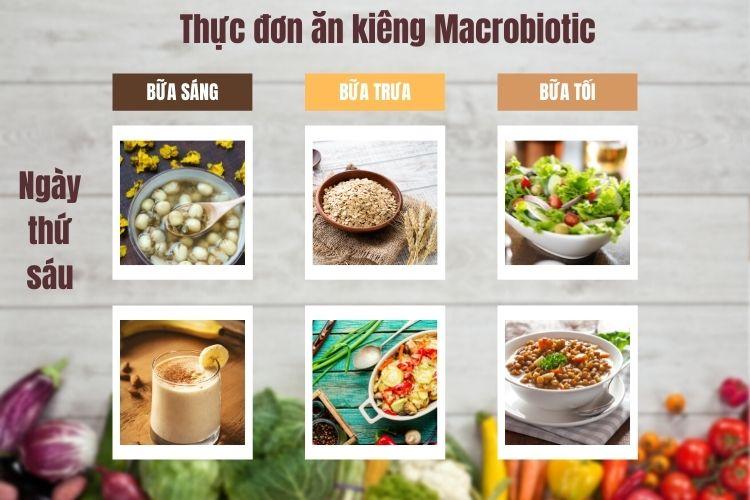 Thực đơn ăn kiêng Macrobiotic ngày 6