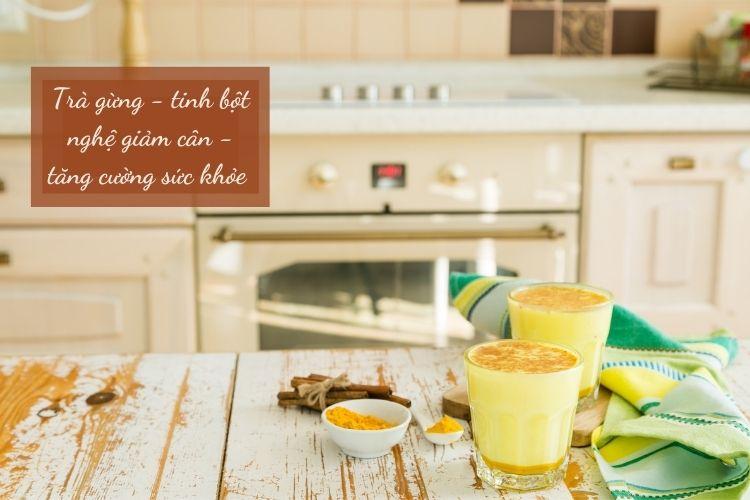 Cách làm trà gừng với tinh bột nghệ