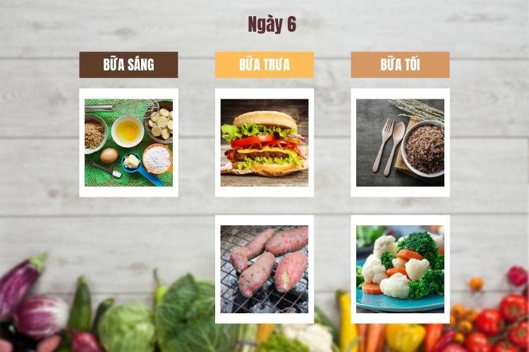Thực đơn chế độ ăn kiêng chay ngày 6