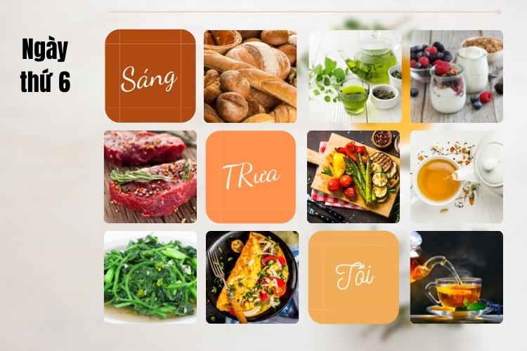 ăn kiêng theo chế độ phân ly ngày 6