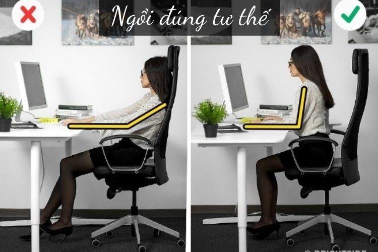 Ngồi đúng tư thế khi làm việc cũng ảnh hưởng nhiều tới việc giảm hay tích mỡ vùng bụng của bạn