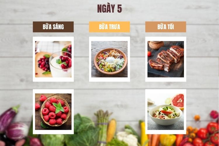 Thực đơn lowcarb giảm cân trong 14 ngày ngày 5