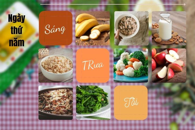 Thực đơn ăn kiêng Vegan diet ngày 5