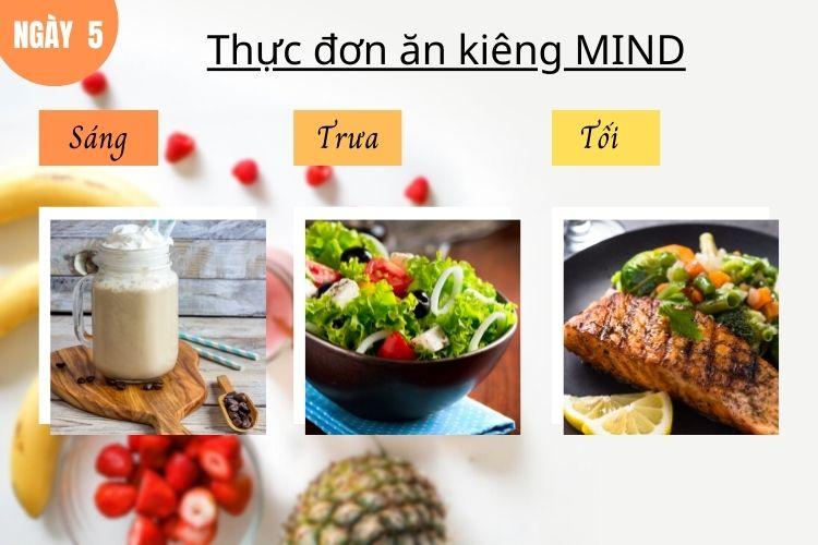 Thực đơn ăn kiêng Mind ngày 5