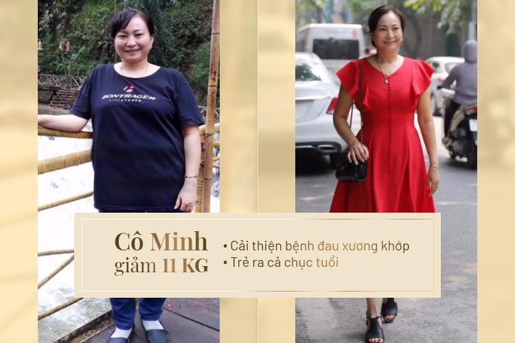 Cô Minh sau khi làm liệu trình giảm béo Max Thin Oneday đã cải thiện cả vóc dáng và sức khỏe