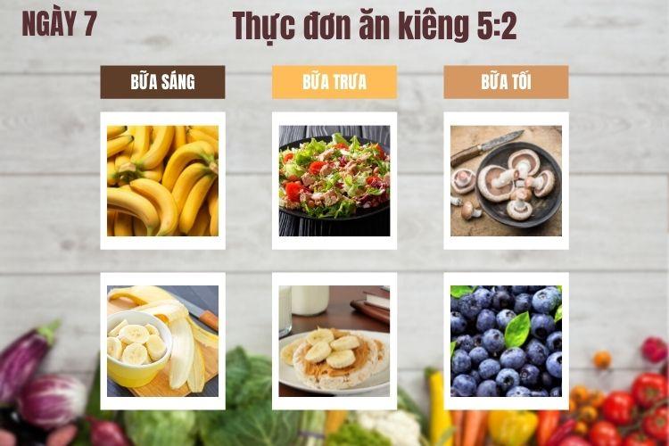 Thực đơn ăn kiêng 5:2 ngày 7