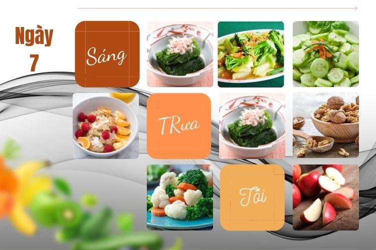 Thực đơn chế độ ăn kiêng chay ngày 7