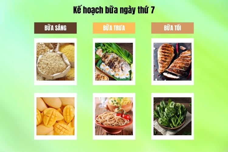 Kế hoạch bữa ăn ngày thứ 7