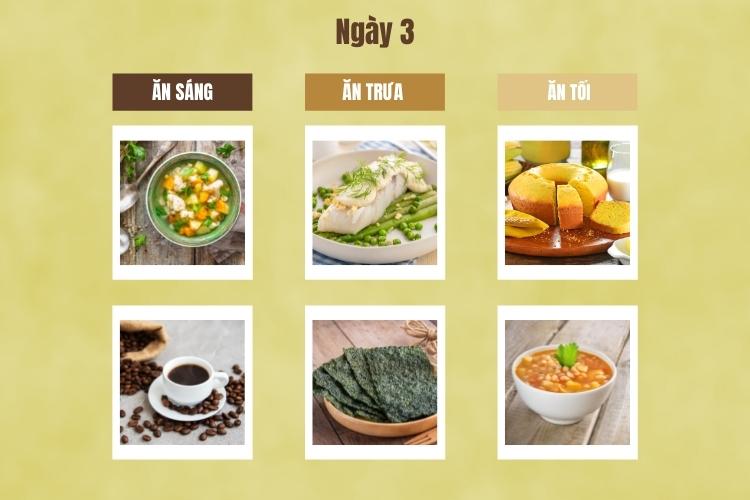 Thực đơn giảm cân Macrobiotic ngày 3