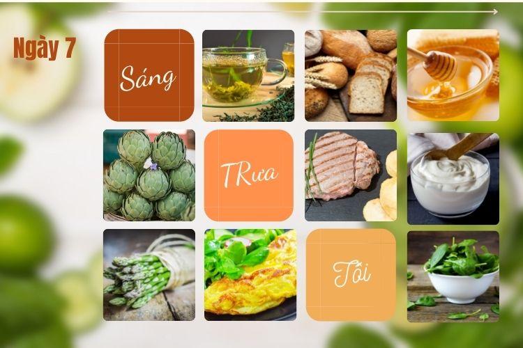 Thực đơn ăn kiêng để giảm 5kg trong 1 tháng ngày 7