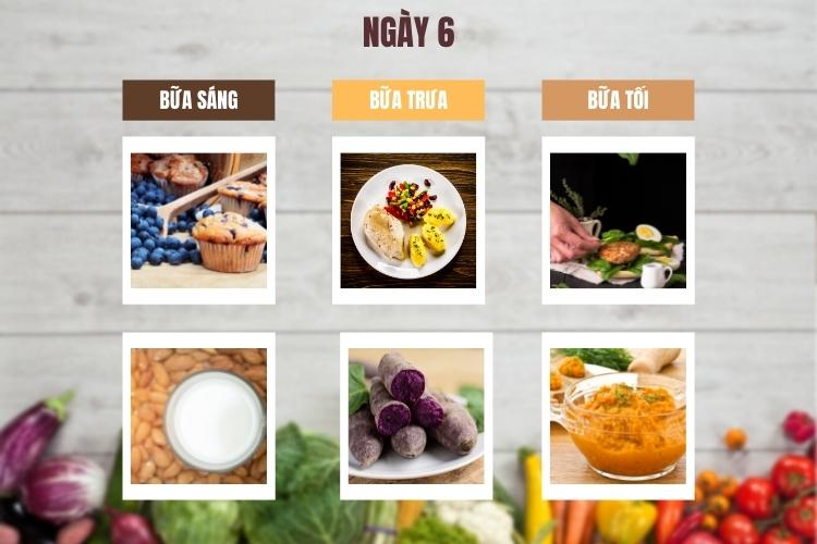Thực đơn lowcarb giảm cân trong 14 ngày ngày 6