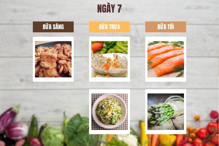 Thực đơn ăn kiêng low carb 7 ngày ngày 7