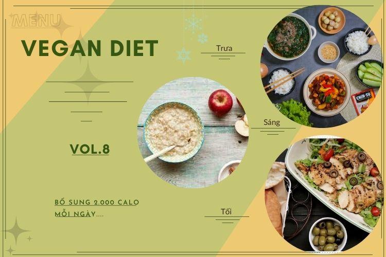 Thực đơn ăn kiêng Vegan diet (ăn thuần chay) ngày 8