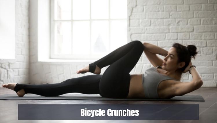 Các bài tập thể dục giảm mỡ bụng hiệu quả: Bicycle Crunches