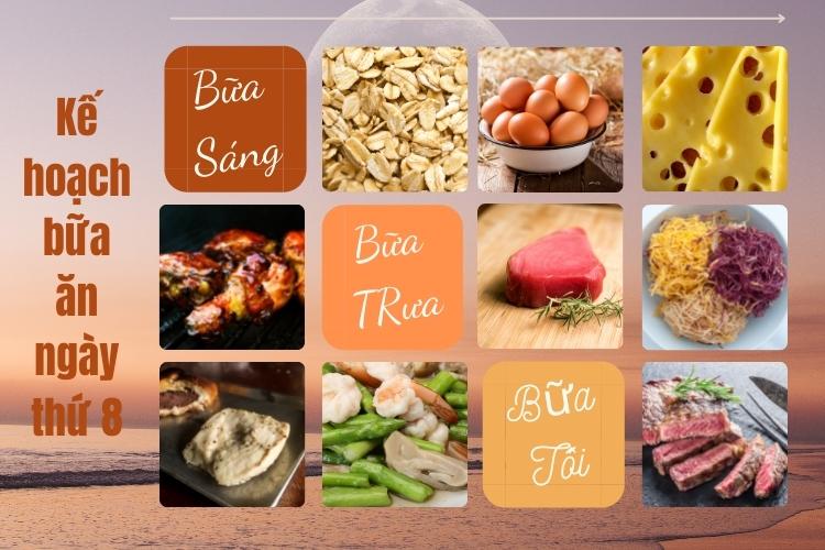 Kế hoạch bữa ăn ngày thứ 8