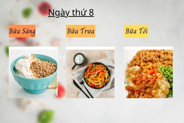 ăn kiêng theo chế độ phân ly ngày 8