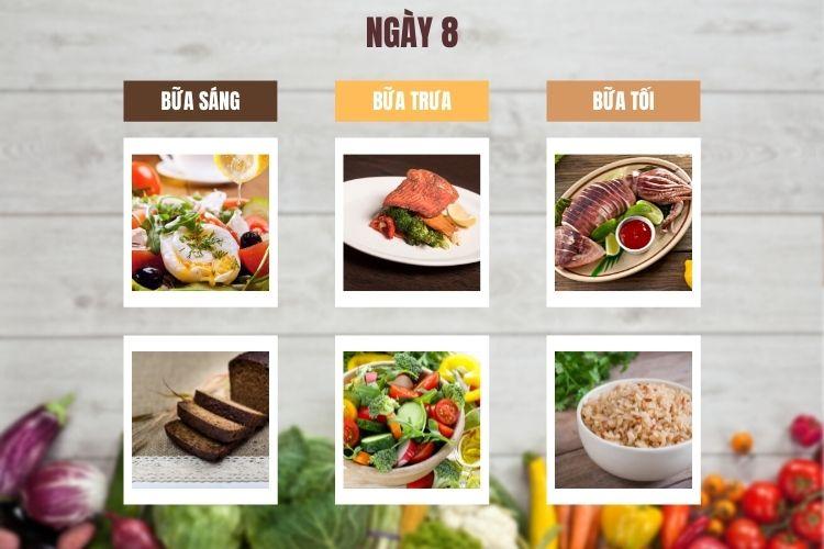 Thực đơn ăn kiêng 1.200 calo 14 ngày ngày 8