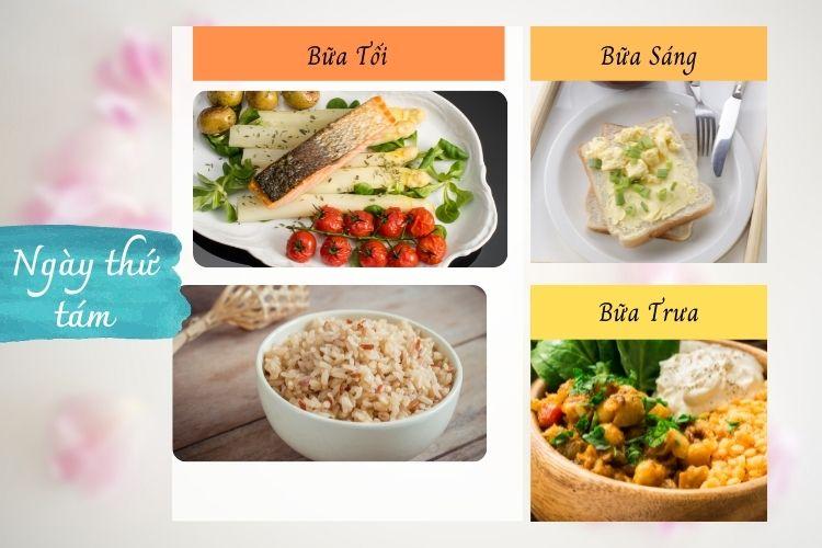 Thực đơn ăn kiêng Macrobiotic ngày 8