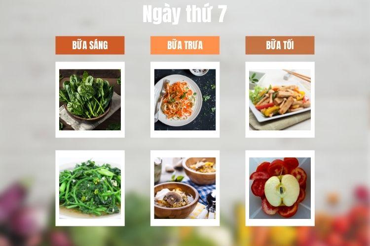 Thực đơn ăn kiêng Vegan diet ngày 7