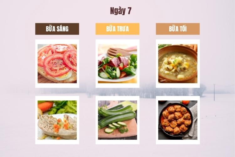 Thực đơn Wild Diet ngày 7