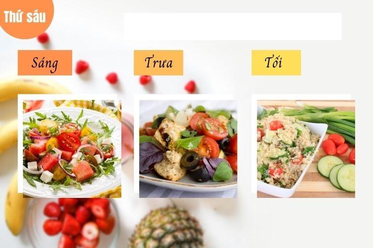 Ngoài bữa chính bạn có thêm ăn thêm các bữa phụ với hoa quả, các loạt hạt