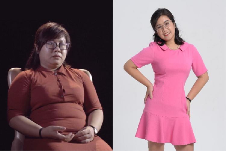 Chị Hồng trước - sau khi giảm béo Max Thin Oneday