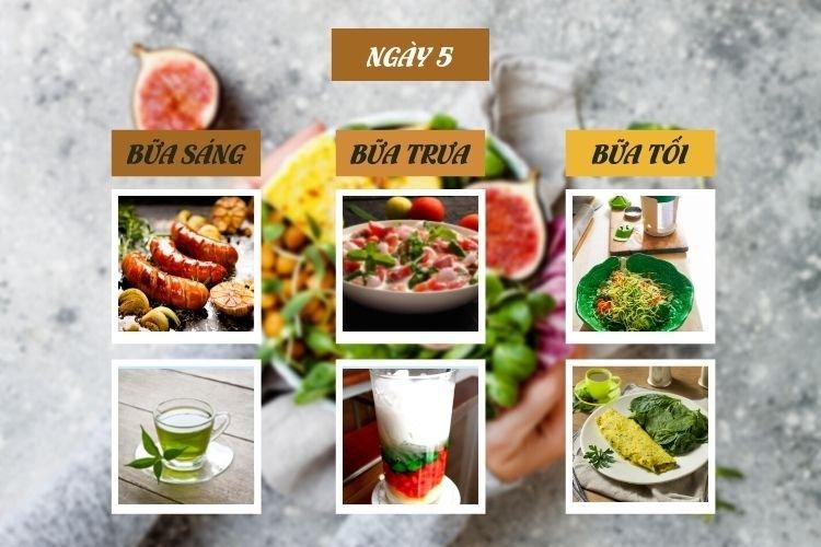 Ăn kiêng theo chế độ phân ly ngày 5
