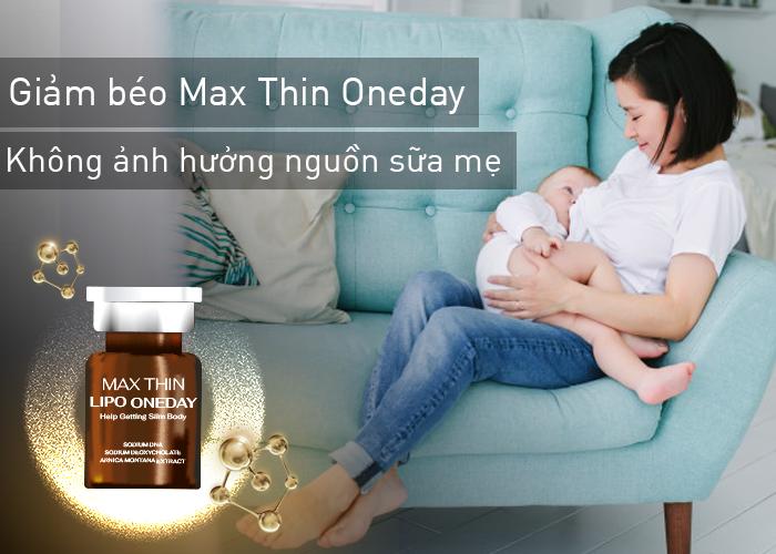 Vẫn chưa có cơ sở nào chứng minh giảm béo bằng công nghệ Max Thin Oneday có ảnh hưởng tới nguồn sữa mẹ không