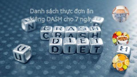 Thực đơn ăn kiêng DASH cho 7 ngày